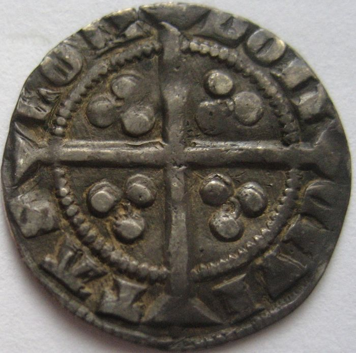 United Kingdom - Penny Edward III 1327-1377 series D MM Cross London mint