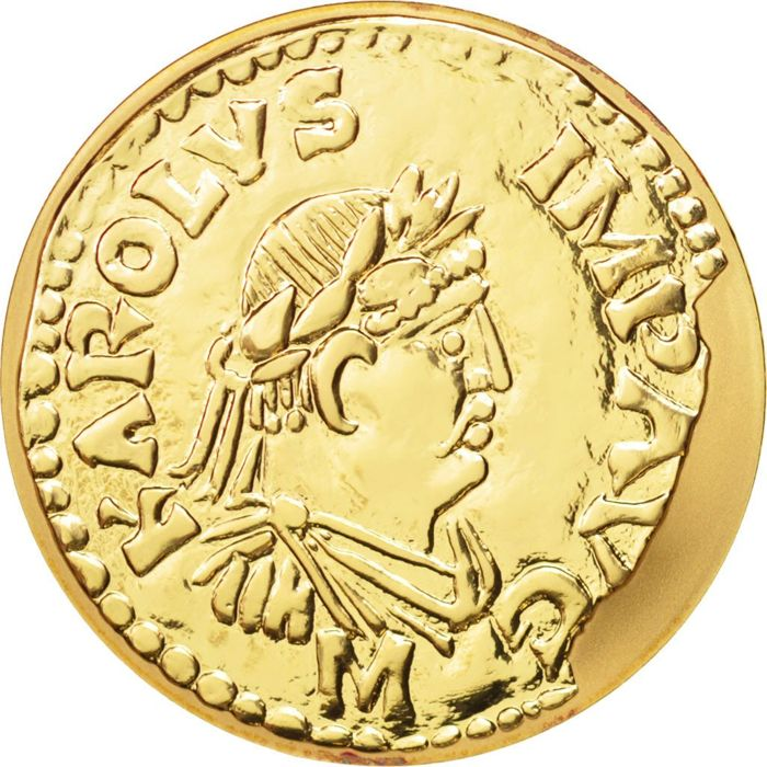 France - 100 Francs, 2000, Paris - Charlemagne Denier - Gold