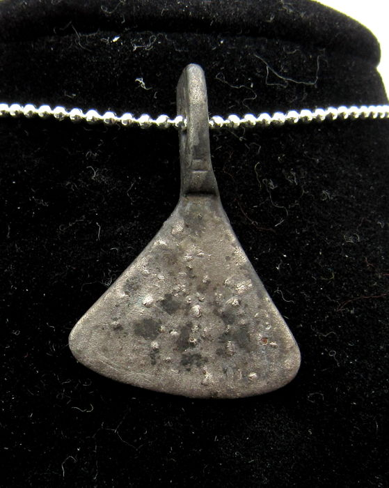 Medieval Viking Period Silver Axe Shaped Pendant   - 26 mm