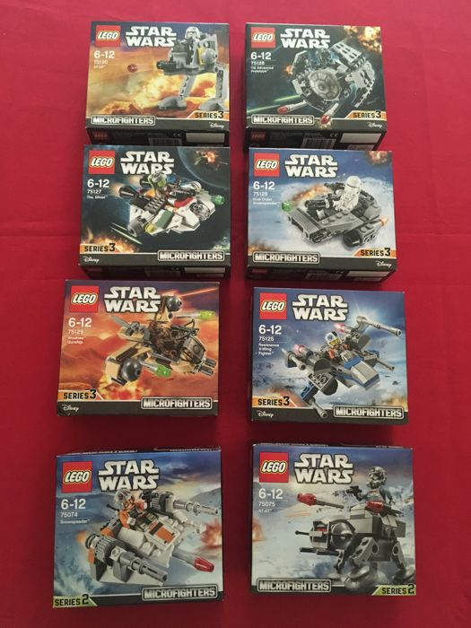 Star Wars - 75074+75075+75125+75126+75127+75128+75129+75130 - Microfighters