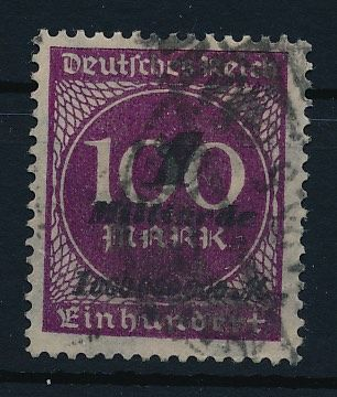 "German Empire/Reich - 1923 - 1 billion on 100 Mark violet-purple, so-called ""Hitlerprovisorium"", Michel 331a with photo certificate Bauer BPP"