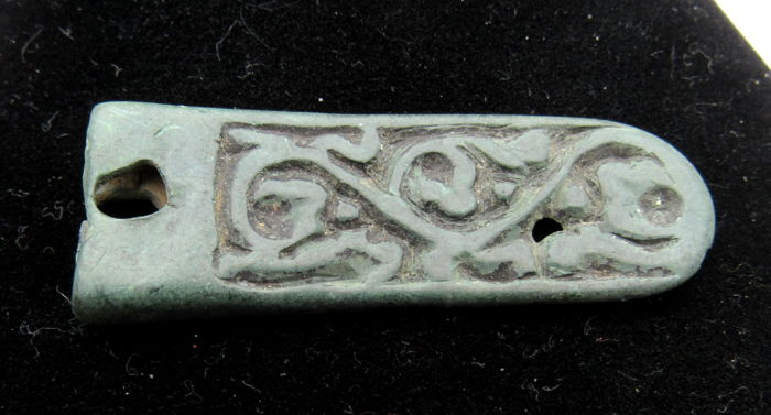 Early Medieval Viking Period Bronze Mount with Zoomorphic Motif  - 47 mm