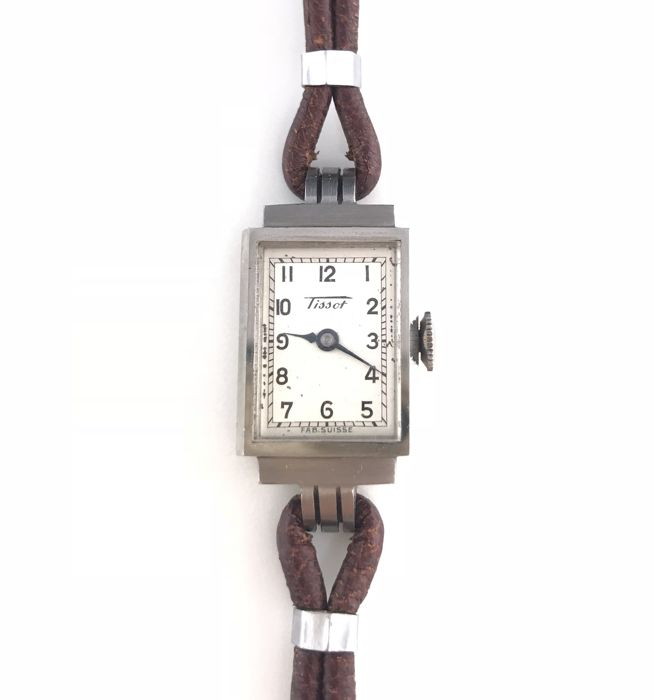 Charming Art Deco Tank watch in new condition, mechanical Swiss movement from the brand Tissot ** No reserve price **