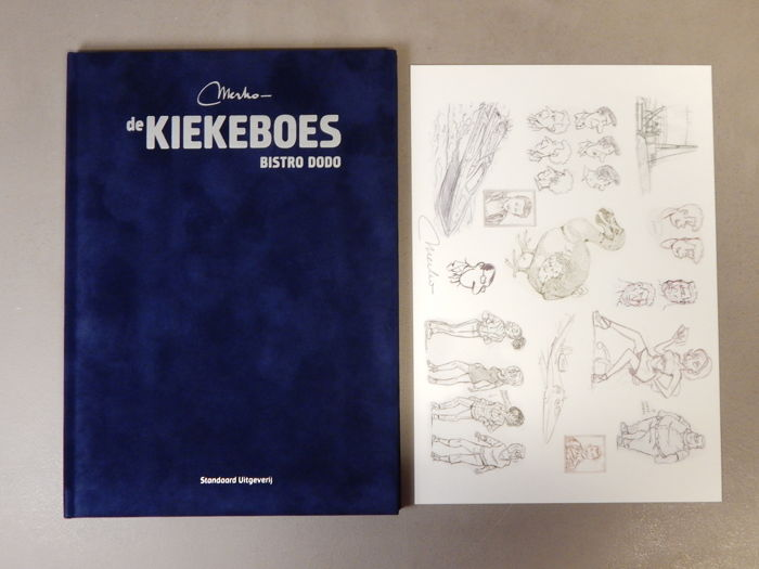 De Kiekeboes 137 - Bistro Dodo + signed print - artist's proof - super de luxe velvet hardcover - first edition (2013)