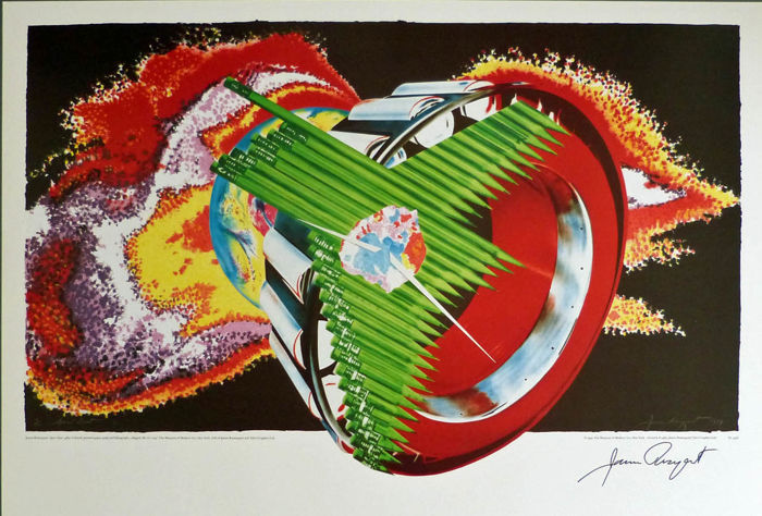 James Rosenquist - Space Dust - handsigniert
