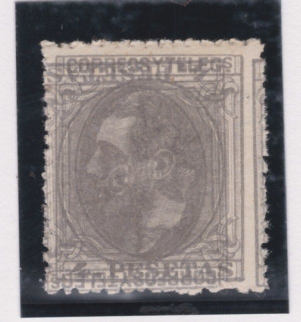 Spain 1879 - Alfonso XII.  Double print, one inverted - Edifil 208it