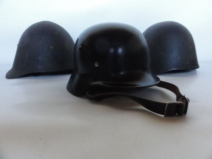 German steel helmet M35 and 2 Danish M23 or M39