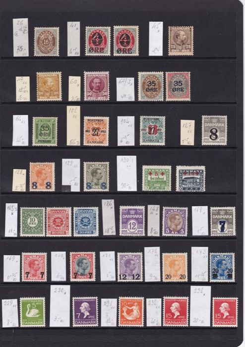 Denmark 1875/1987 - collection of stamps, series and HB
