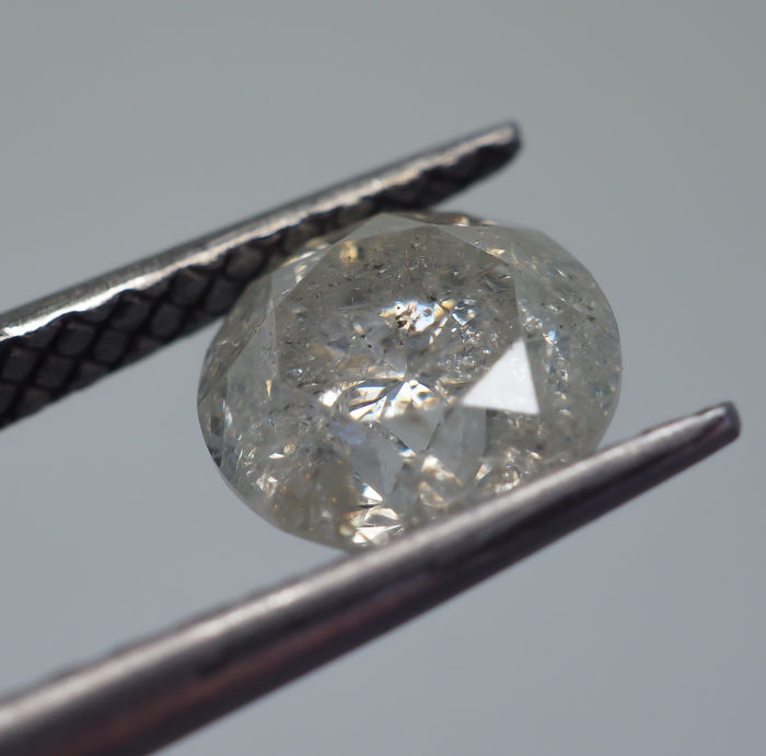 1.24 ct - Natural White Diamond - H Color - I2 *NO RESERVE*