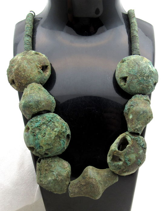 Ancient Bronze Age Druid's Religious Beaded Necklace - Cult - 365 mm