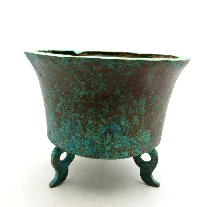 Ancient Chinese Archaic Bronze Pot - 150mm / 832 gr