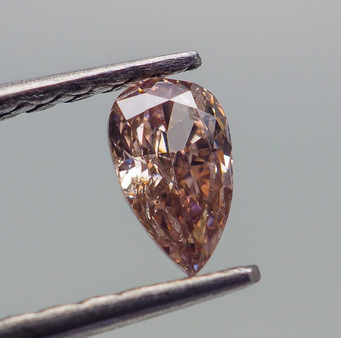 0.22 ct - Natural Fancy Diamond - Orangy Pink - I1  *NO RESERVE*