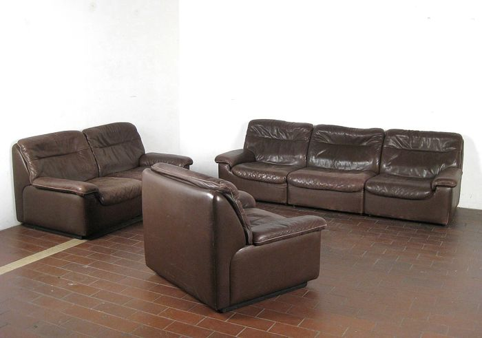 This Sede DS-66 couch: 3-seater, 2-seater and armchair