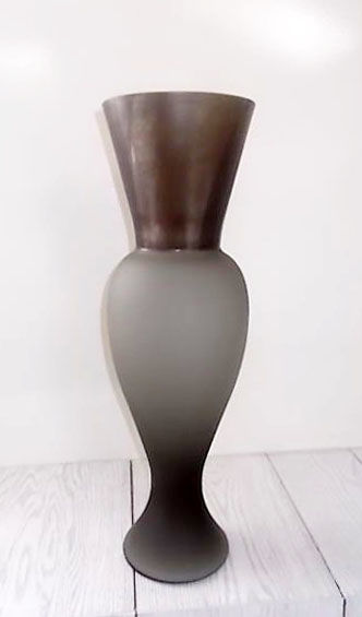 "Rodolfo Dordoni for Venini - ""Regina"" vase in taupe satinato glass (50 cm)"