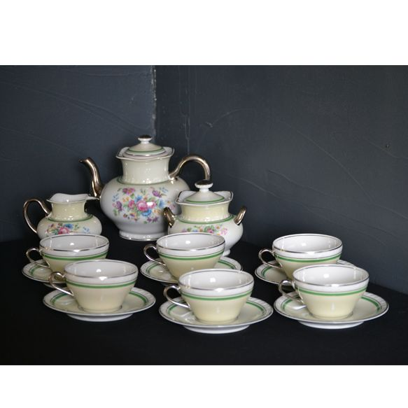 Charles Ahrenfeldt Limoges - Tea set for 6 people