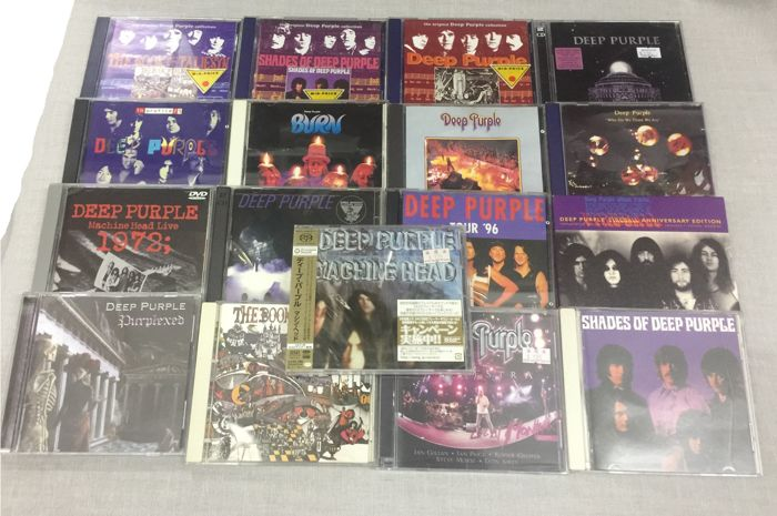 Deep Purple ‎Album x 16 CD / 1 DVD / 1 Box Set