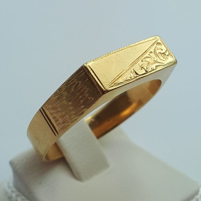 Vintage Men's Ring, 14/585 ct Yellow Gold