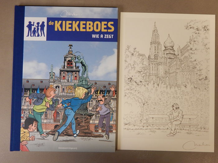 De Kiekeboes 145 - Wie A zegt + signed print - Artist's copy - deluxe hardcover with linen spine - first edition (2016)