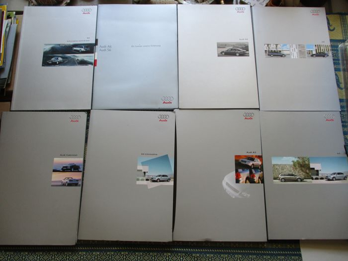 Brochures / Catalogi - Audi, uitgebreide brochures - 1995-2003 (8 items)