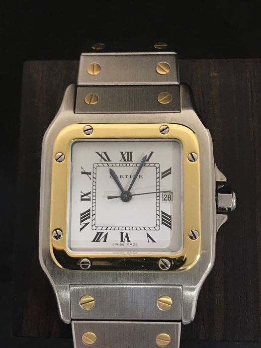 Cartier - Santos Galbee Automatic Gold/Steel - Unisex - 2000-2010
