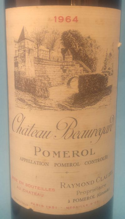 1964 Chateau Beauregard, Pomerol, France - 5 Bottles (750ml)