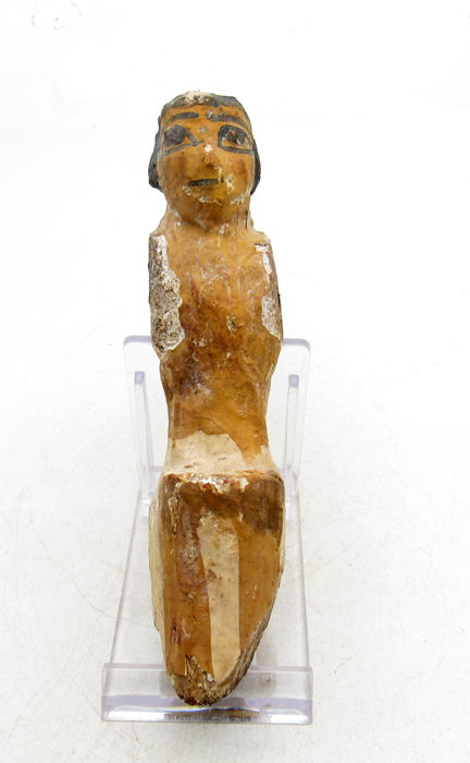 Ancient Egyptian Wooden Female Figure from a Domestic Model - 115mm