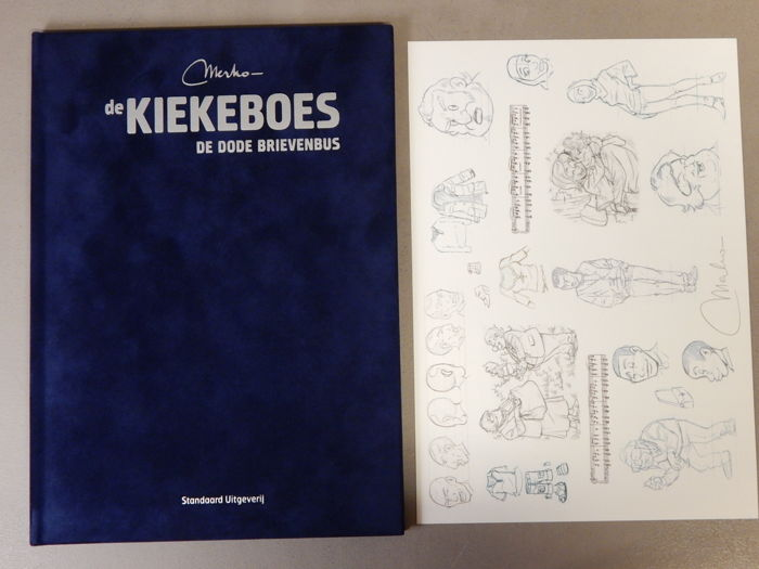 De Kiekeboes 141 - De Dode Brievenbus + signed print - artist's proof - super de luxe velvet hardcover - first edition (2014)