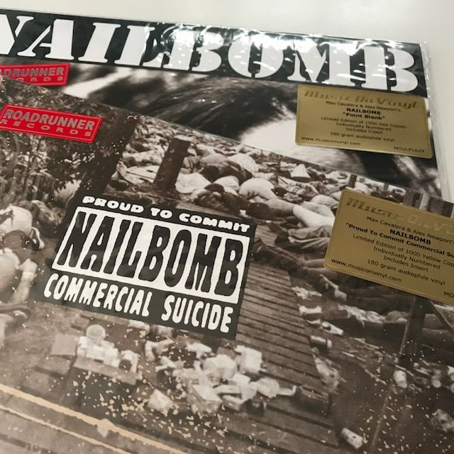 Nailbomb - Lot of 2 limited edition and deleted coloured vinyl Music On Vinyl LPs - both sealed
