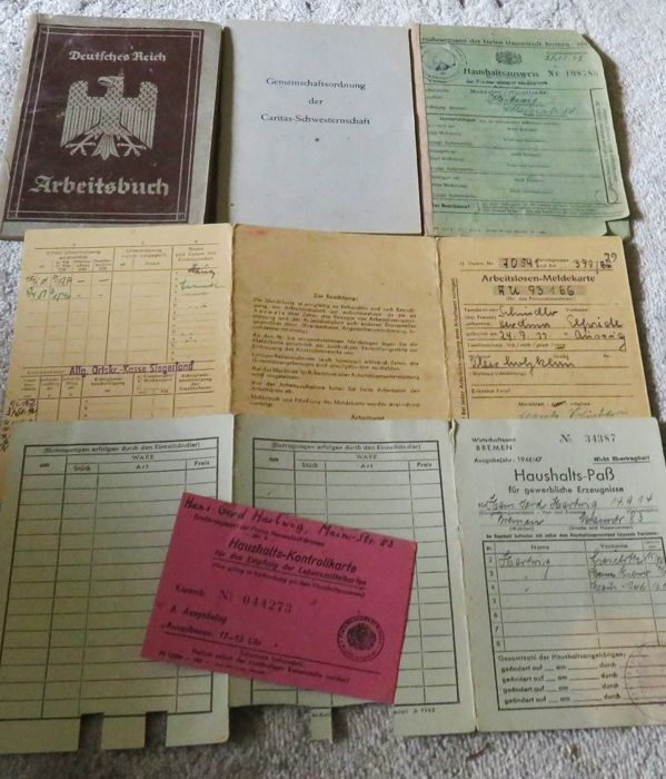 Third Reich Mixed Lot of Documents