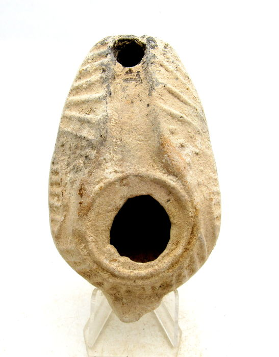 Ancient Roman Terracotta Oil Lamp - 105mm