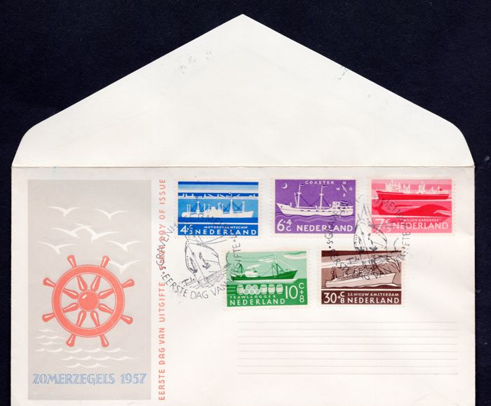 The Netherlands 1957 - FDC NVPH no. E29 with Kurz befund by H. Vleeming