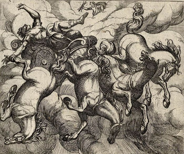 Antonio Tempesta, 1606 - Fall of Phaëton