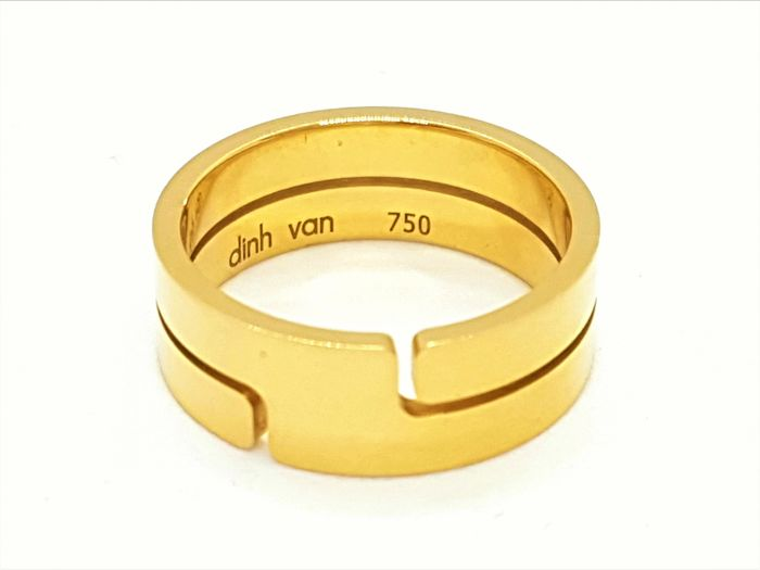Dinh Van - Seventies Ring - 18 kt Yellow Gold - New - size: 55