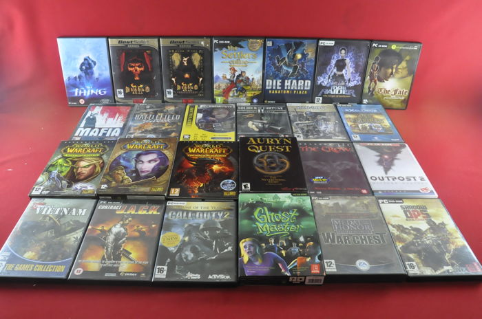 25 Pc games eg World of Warcraft, Diablo II Soldier of Fortune II and more
