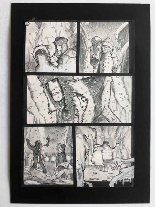 Simon Bisley - Original Art Page - Pencil, Pen & Ink - Tower Chronicles Vol 2 #1 - Page 2 - (2014)