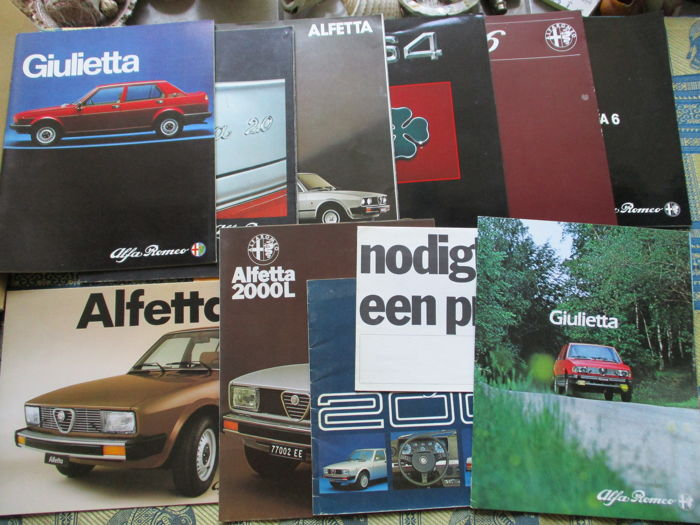 Brochures/ Catalogues - Alfa Romeo sedans - 1977-1991 (11 items)