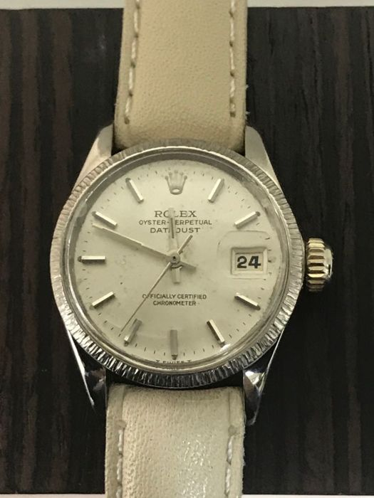 Rolex - Oyster Perpetual Datejust Bourke 18K White Gold - 6527 - Women - 1970-1979