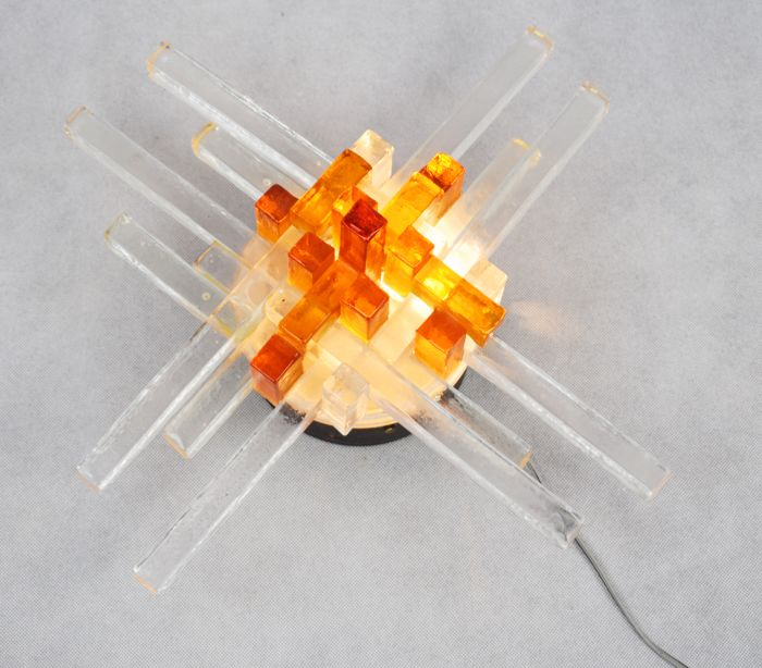 Poliarte - Amber/transparent wall light (42 cm)
