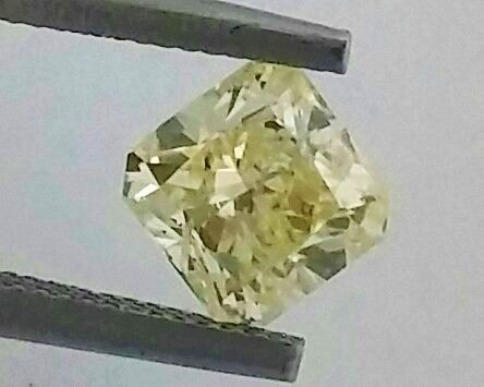 1.00 ct - SI2 - Radiant - Natural Fancy Intense Yellow Diamond - IGL Certified + Laser Inscription On Girdle.
