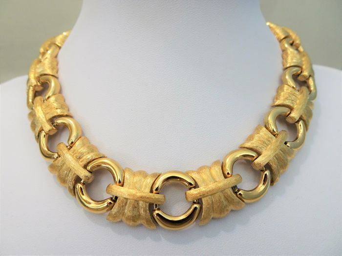 GIVENCHY - Big and Heavy XXL Gold Necklace - 1970/80s