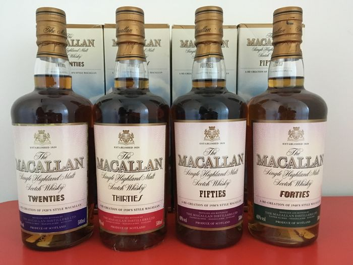 4 bottles - Macallan - Travel Series - Full set 4x 50CL