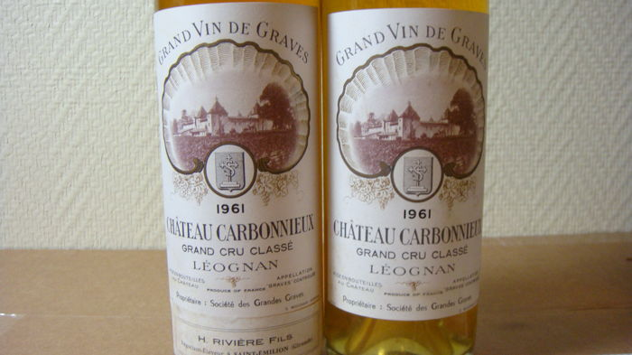 1961 Chateau Carbonnieux Blanc, Grand Cru Classé de Graves -  2 bottles 75cl.
