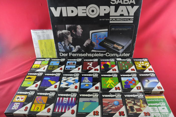 Saba Videoplay System - Fairchild Console w/ 20 Games