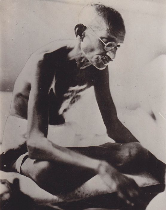 Unknown/ Keystone - Mahatma Gandhi fasting in jail, India, 1933
