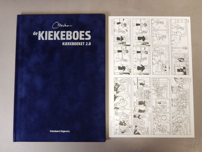 De Kiekeboes - Kiekeboeket 2.0 + signed print - Author's copy - super deluxe velvet hardcover - 1st edition (2014)