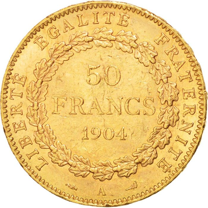 France - 50 Francs Génie 1904 Paris - Gold