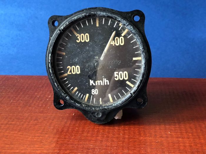 "Wonderful WW2 German Luftwaffe Fahrtmesser Air Speed Indicator - Fl.22230 "" Original-Bruhn, Berlin "", 60 – 550 km/h , as used ONLY in the Ar79, Ju52, Me108, Bu181, He111 Do17, and Do24!"