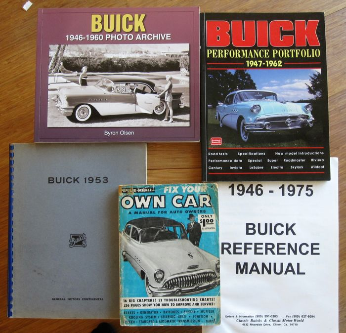 Buick books 4x + Fix your own car 1954