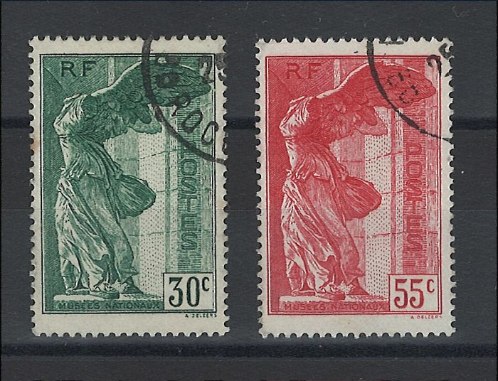 France 1927 - Pair of Samothrace - Yvert no. 354/255