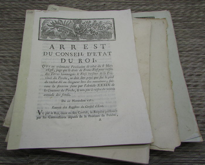 Various  - Collection of six 18th Century French Pamphlets